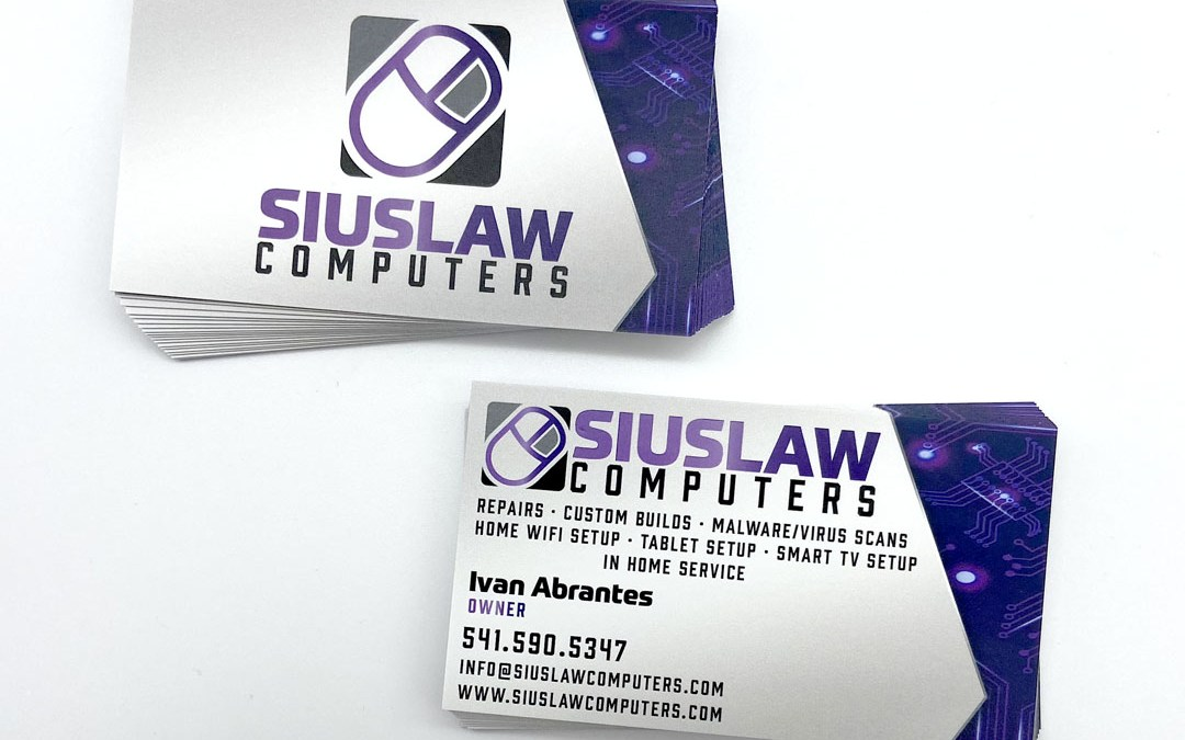 Siulslaw Computers – Business Card