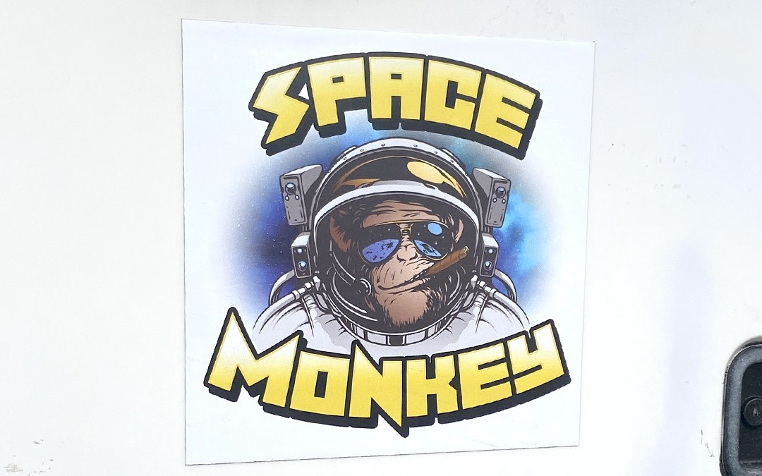 Space Monkey Car Magnet
