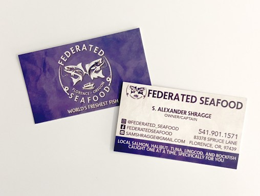 Federated Seafood – Business Card