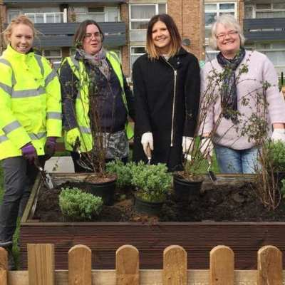 Westcoast Windows donates to Community Garden at Hillington Square, King's Lynn