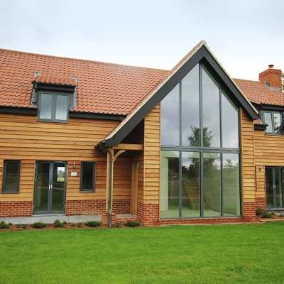 Westcoast Windows supply Swedish composite windows to Aluminium Clad Windows by TWN for Reymerston Park development