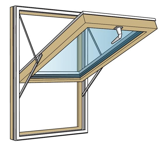 Westcoast Windows Product Feature: TSG180 – Top Hung Reversible Composite Window