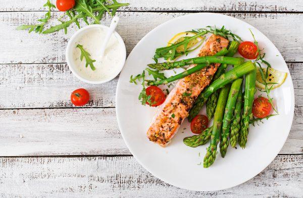 Westcountry Spice Salmon and shrimp Thai fry with asparagus