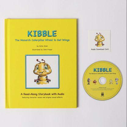 kibble the monarch caterpillar afraid to get wings storybook with audio by anita gnan