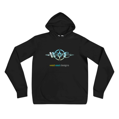 West East Designs Logo Hoodie - Swirled Compass - Solo Flat