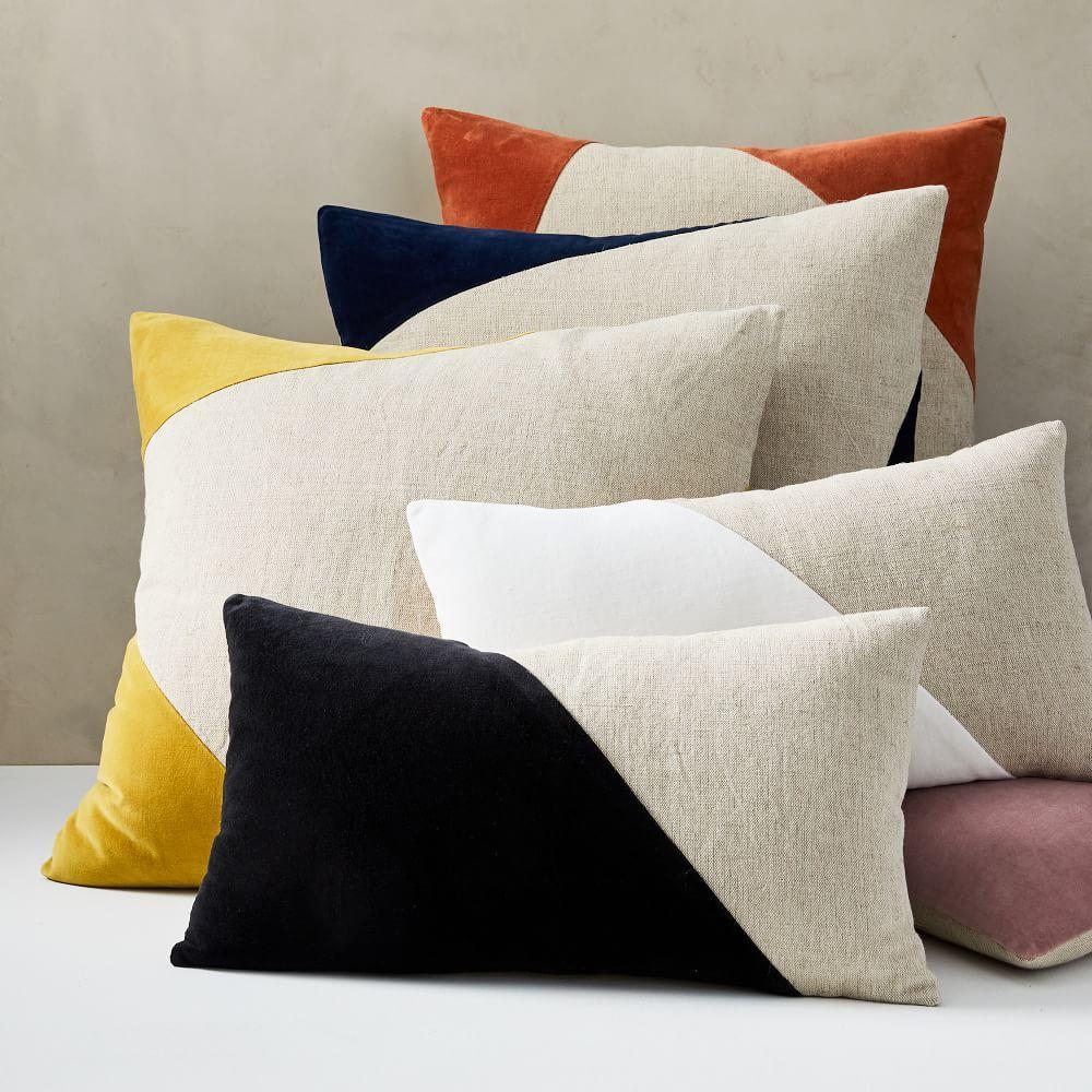 cotton linen velvet corners cushion cover
