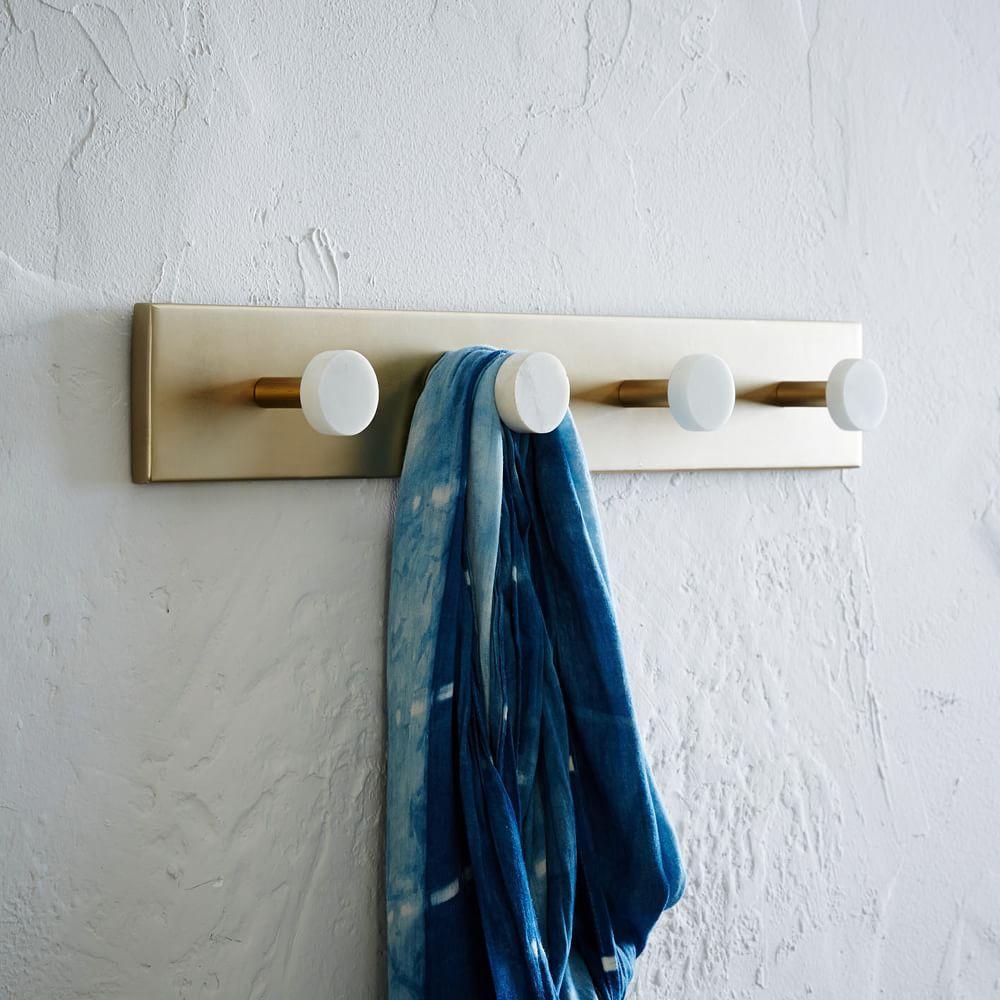 deco marble hook rack