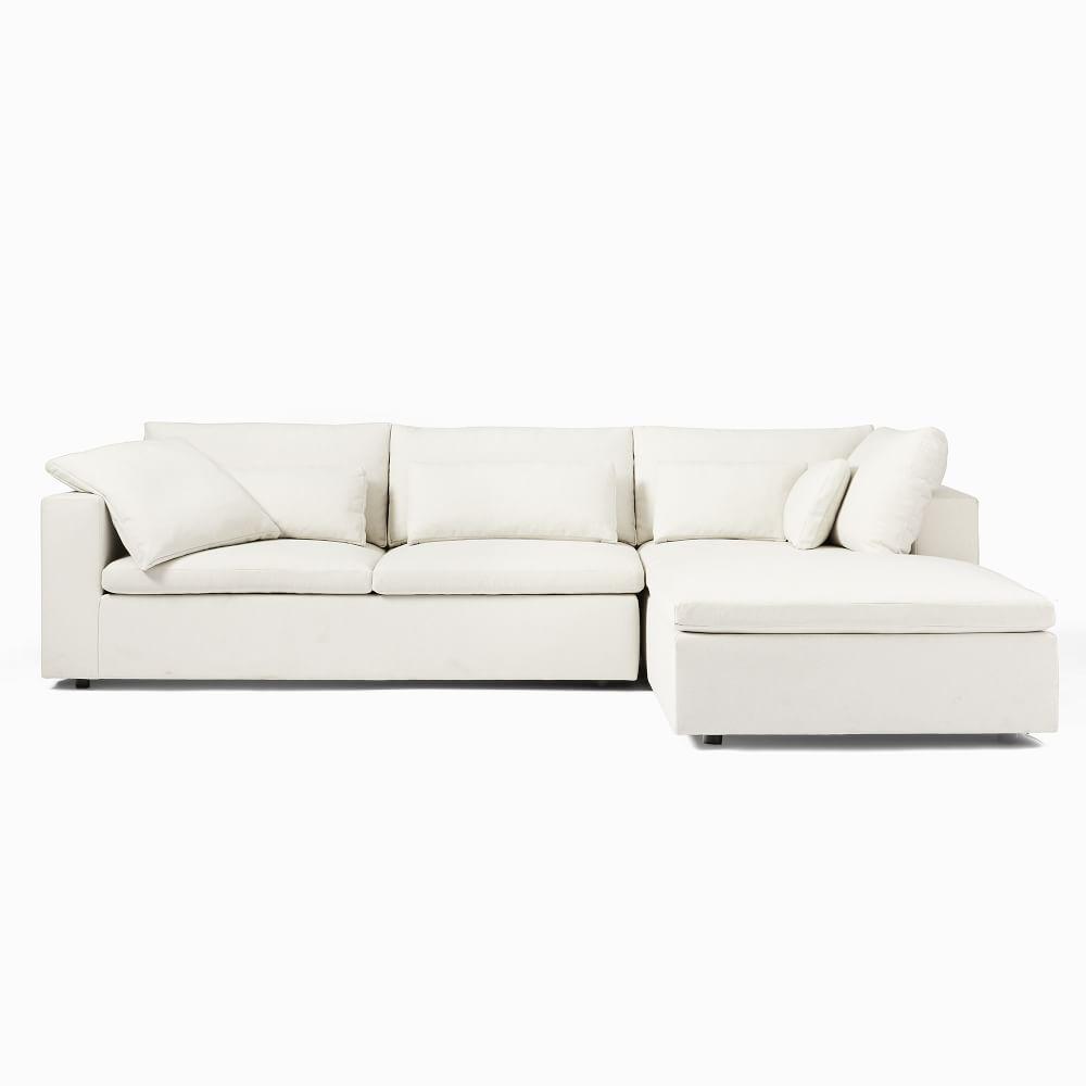 harmony modular 3 piece corner chaise sofa