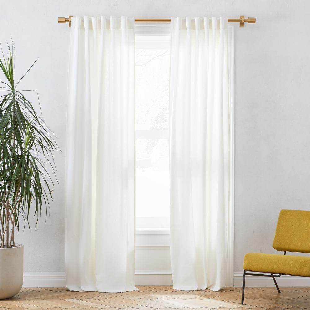 linen cotton blackout curtain stone white