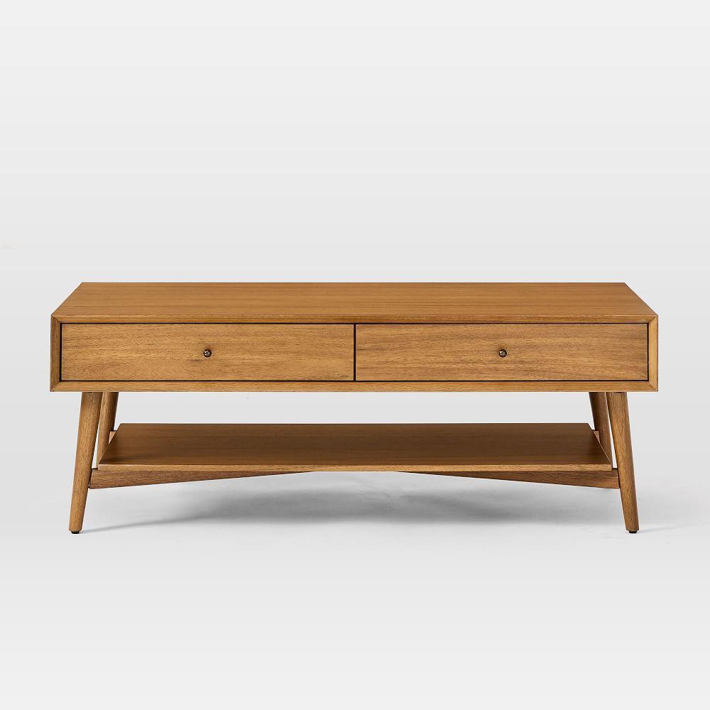 mid century storage coffee table acorn