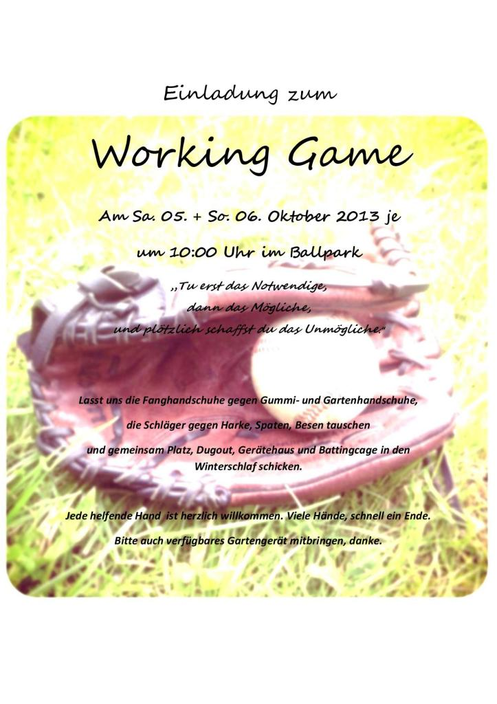 Working Game Herbst 2013