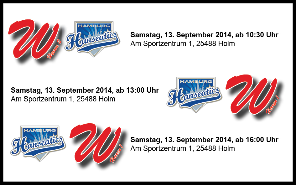 Tripleheader vs. Hamburg Hanseatics – Die letzten drei Heimspiele der Saison!