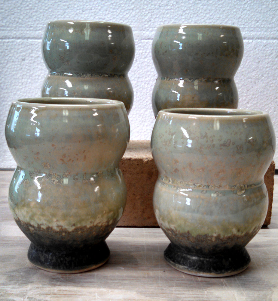 "Richard Aerni ""Bubble Cups"" ceramic $38. each"