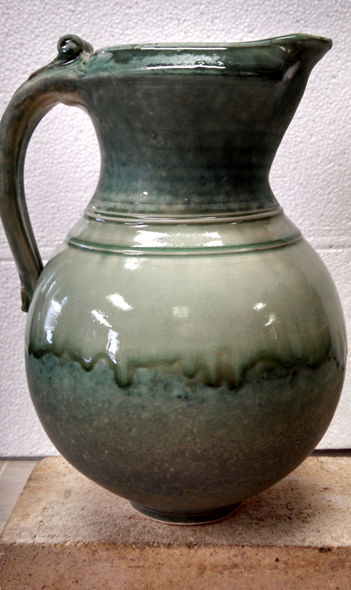"Richard Aerni ""Green Pitcher"" ceramic $140."