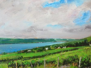 "Bruce Baxter ""Seneca Vineyards Overlook Study"" 11x14 oil $800."
