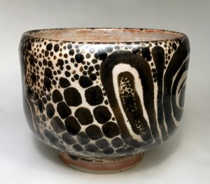"""Alan and Rosemary Bennett """"Lion Fish Bowl"""" 5x6 clay $195."""