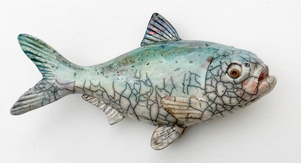 "Alan and Rosemary Bennett ""Shad"" 5.5x10 clay $95. SOLD"