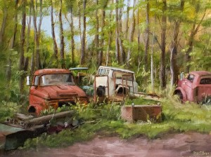 "Bibi S. Brion ""Behind Phelp's Garage"" 12x16 oil $1,500."
