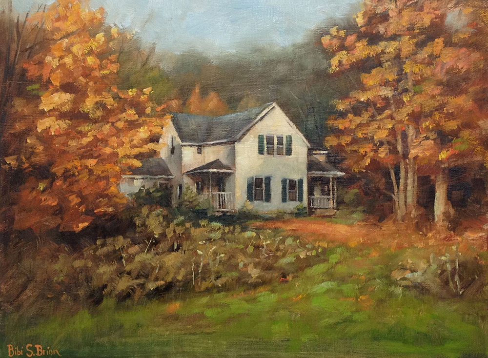 "Bibi S. Brion ""Fall Gold"" 9x12 oil $250."