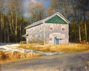 """Bibi S. Brion """"Sebring Grange"""" 8x10 oil $150."""
