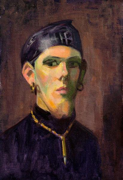 """Thomas S. Buechner """"Chris"""" 12x8 $1,460. framed"""