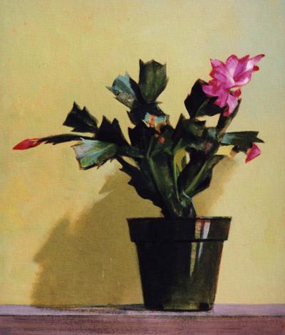 "Thomas S. Buechner ""Christmas Cactus"" 14x11 oil $2,570."