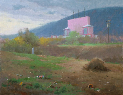"Thomas S. Buechner ""Drive In"" 14x18 oil $3,170."