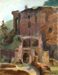 "Thomas S. Buechner ""Palatine Wall"" 8x10 oil $1,970."