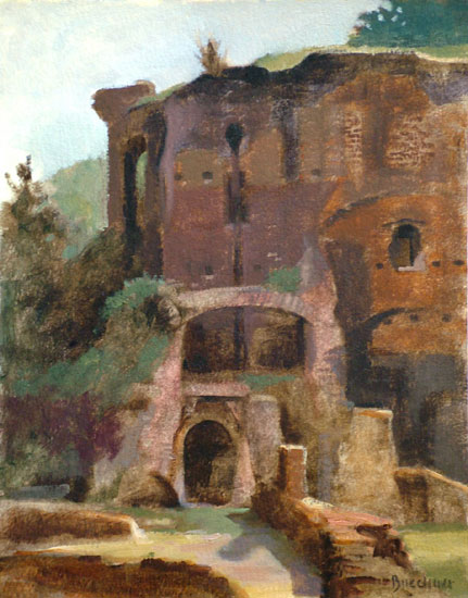 "Thomas S. Buechner ""Palatine Wall"" 8x10 oil $1,970."
