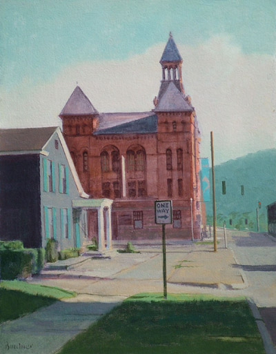 "Thomas S. Buechner ""Rockwell from Cedar"" 14x11 oil $2,570."
