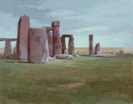 "Thomas S. Buechner ""Stonehenge"" 11x14 oil $2,500."