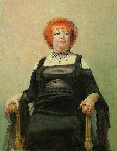 """Thomas S. Buechner """"Sonia Reigle"""" 18x14 oil $3,170."""