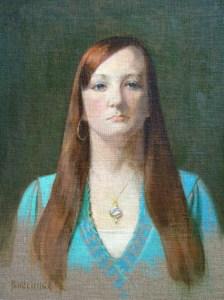 """Thomas S. Buechner """"Amanda Herrick"""" 18x14 unframed oil $2,970."""