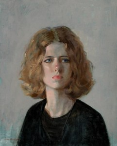"Thomas S. Buechner ""Anke"" 20x16 unframed oil $3,190."