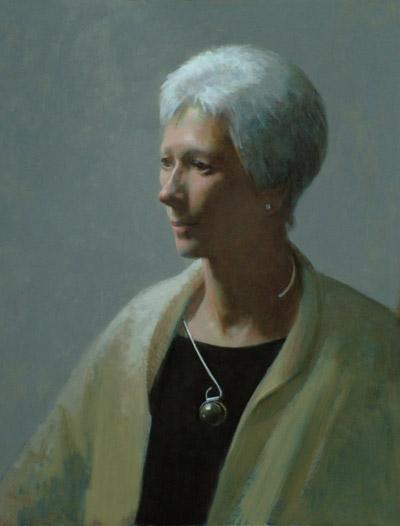 """Thomas S. Buechner """"Cathy Baker"""" 20x16 unframed oil $3,190."""