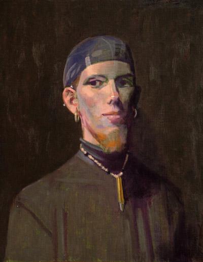 """Thomas S. Buechner """"Chris (Front)"""" 20x16 unframed oil $3,190."""