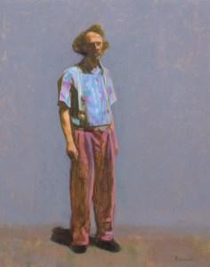 "Thomas S. Buechner ""Erwin Eisch"" 20x16 oil framed $3,390."