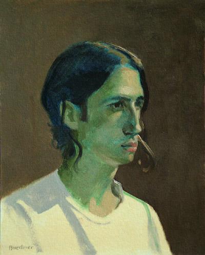 "Thomas S. Buechner ""Green Adam"" 10x8 unframed oil $1,870."