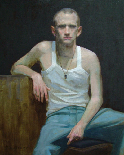 "Thomas S.Buechner ""Joshua Ayers"" 20x16 oil framed $3,390."