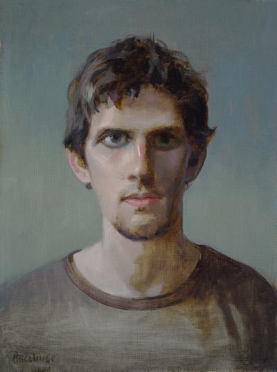 "Thomas S.Buechner ""Kyle Babcock"" 16x12 oil $2,960."
