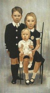 """Thomas S. Buechner """"The Buechner Children"""" 31x17.5 oil $4,900."""