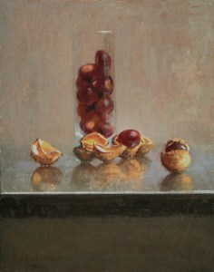 "Thomas S. Buechner ""Chestnuts"" 14x11 unframed oil $2,420."