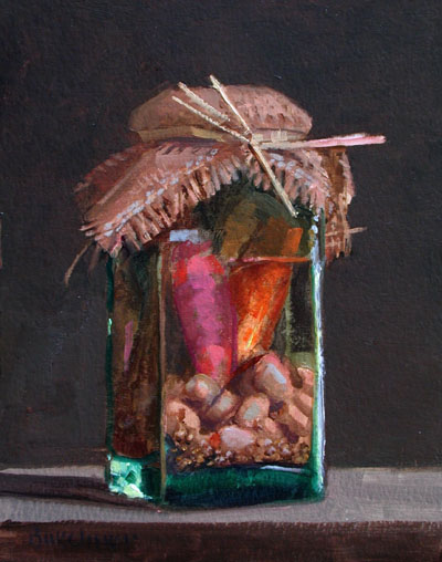 "Thomas S. Buechner ""German Pickles"" 10x8 oil $1,920."