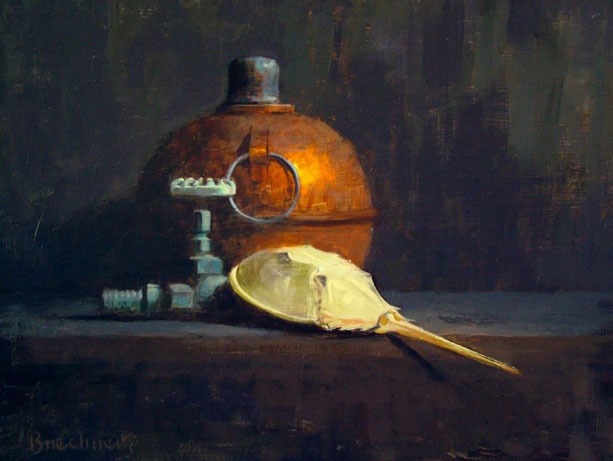 "Thomas S. Buechner ""Horseshoe Crab"" 16x20 oil framed $3,300."