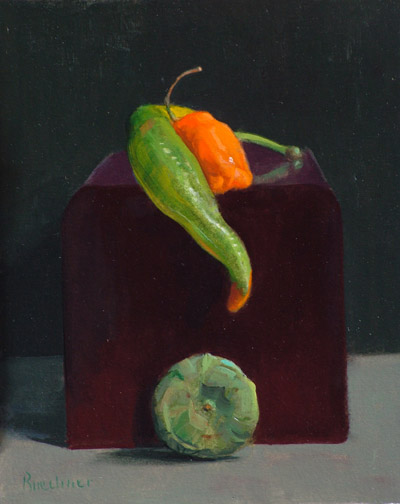 "Thomas S. Buechner ""Longing Pepper"" 10x8 oil $1,970."