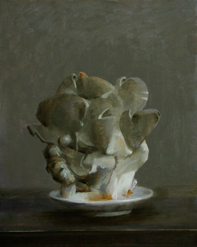 "Thomas S. Buechner ""Mushrooms"" 10x8 oil $1,970."
