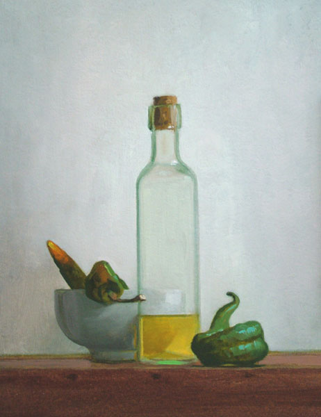 "Thomas S. Buechner ""Oil and Peppers"" 14x11 $2,570. framed"