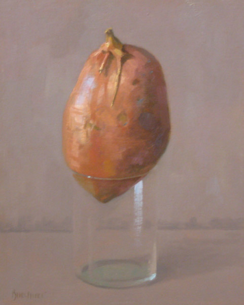 "Thomas S. Buechner ""Yam"" 10x8 unframed oil $1,870."