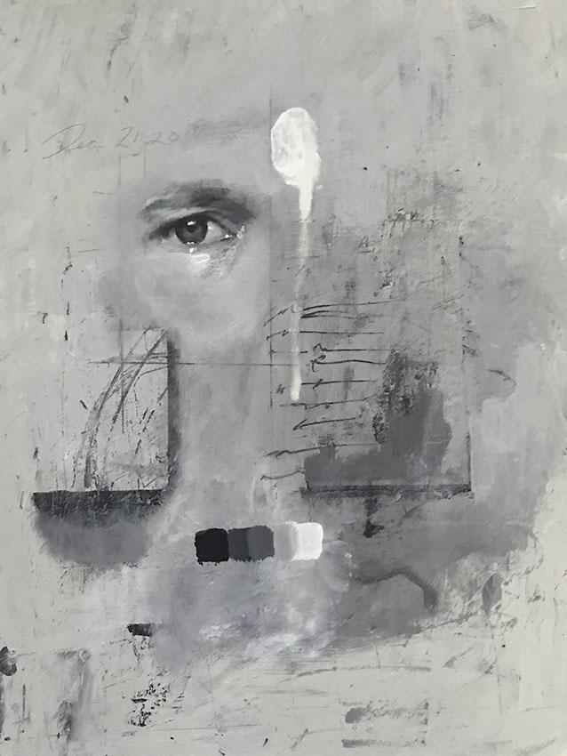 """Chad Cleveland """"Eye Study"""" 12x9 acrylic/board $450."""