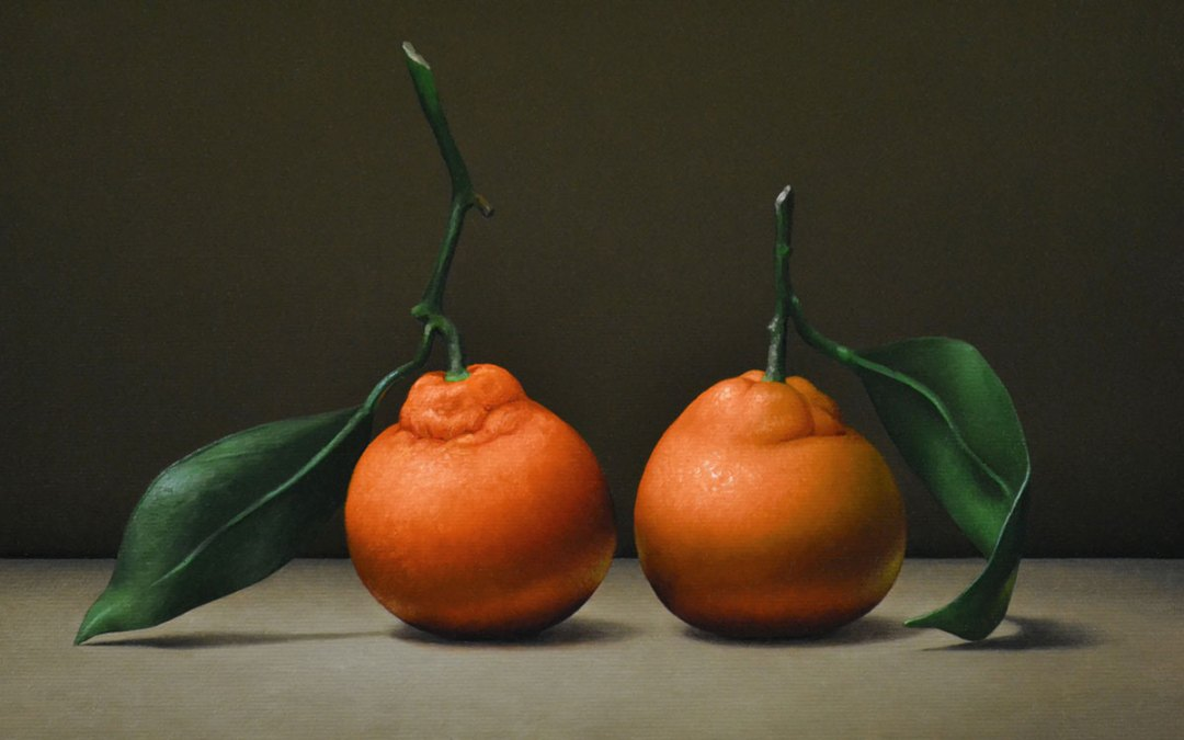 """Trish Coonrod """"2 Clementines"""" 9x12 oil $1,500. SOLD"""
